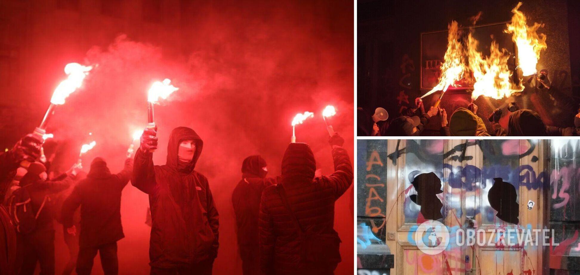 У ЗМІ назвали імена координаторів погромів під Офісом президента в Києві. Фото