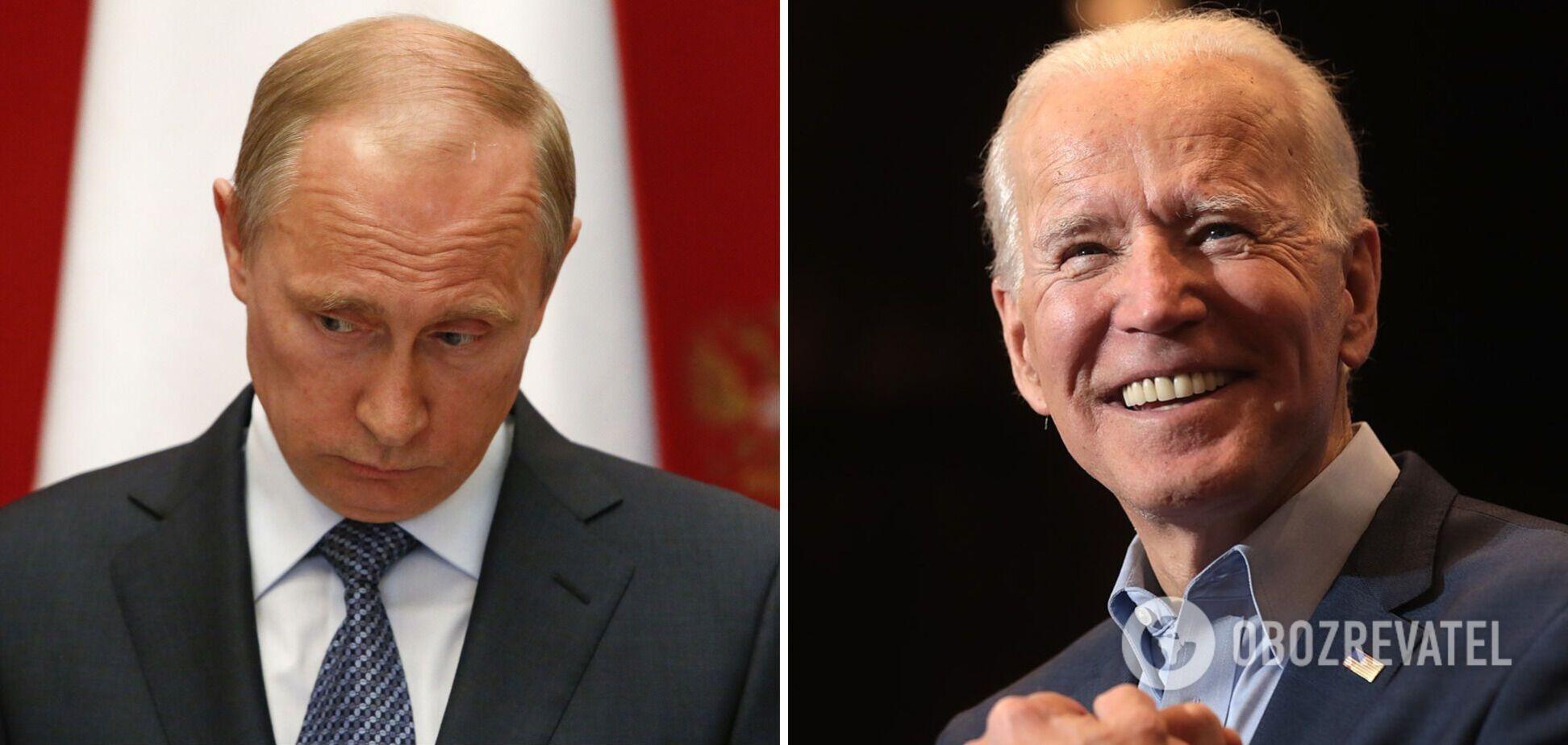 Президент Росії Володимир Путін і президент США Джо Байден