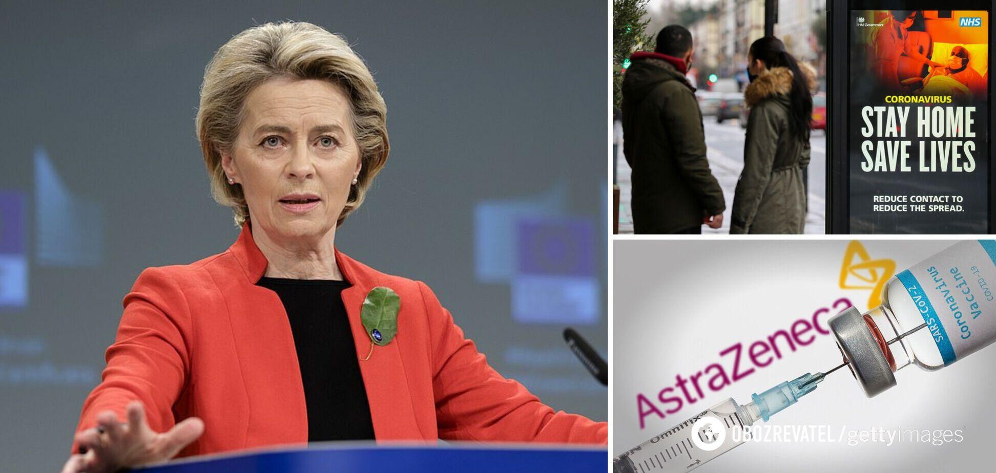 У ЄС зібралися заблокувати постачання вакцини AstraZeneca в Британію