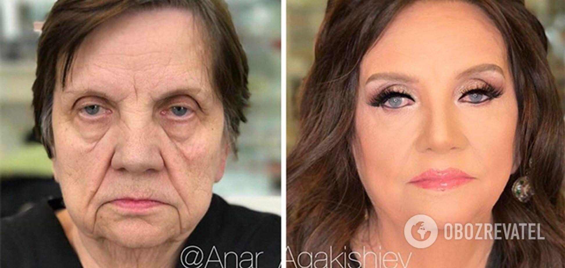 Потрясающее перевоплощение с помощью макияжа.