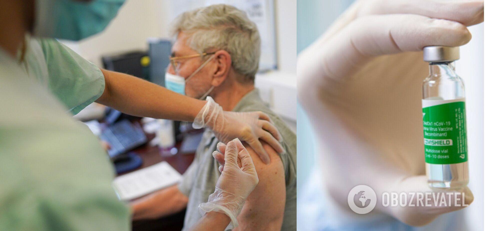 Вакцинация против коронавируса в Украине