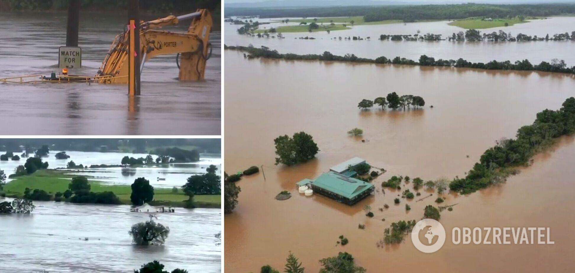 Ливни в Австралии спровоцировали наводнения, каких не было почти 100 лет. Фото и видео