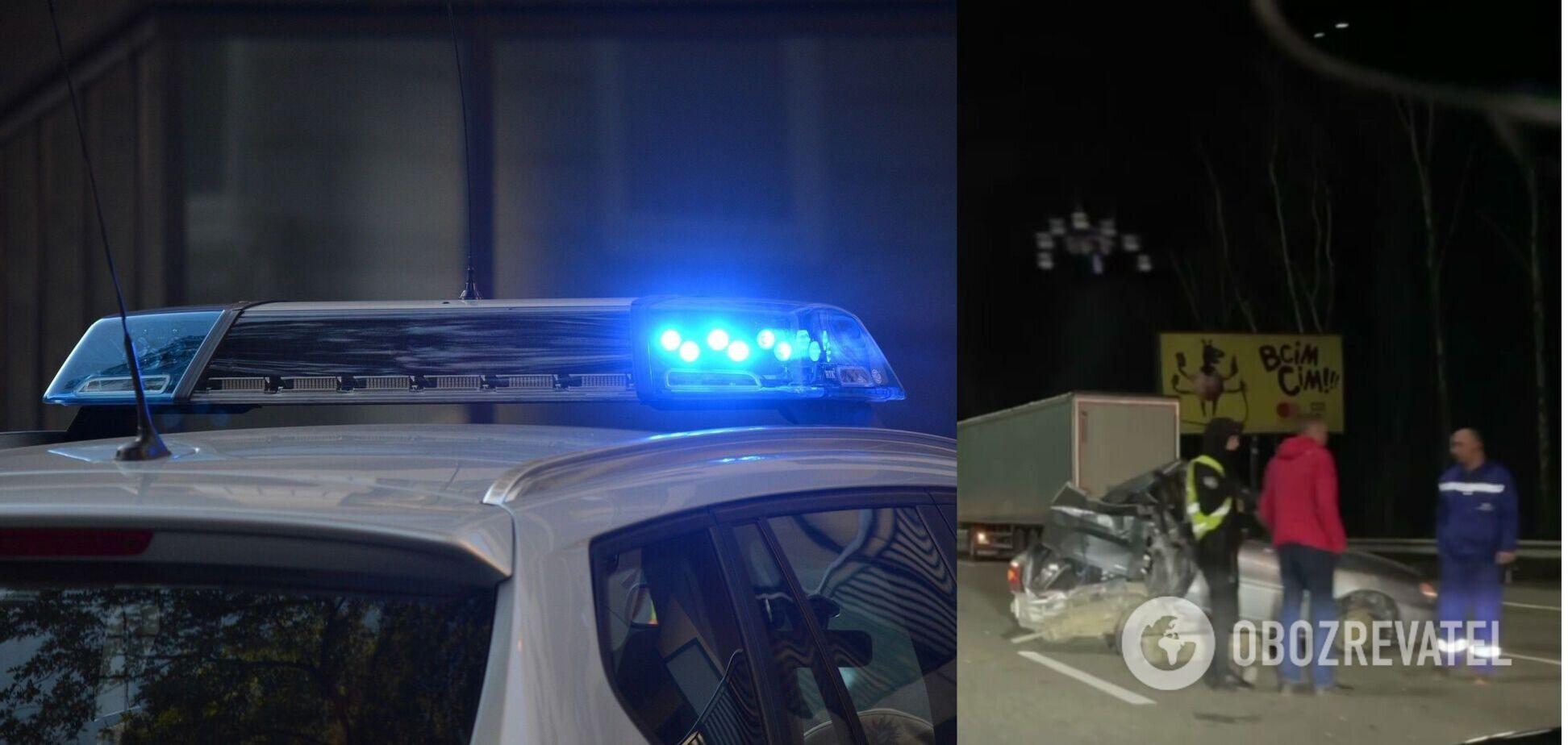 Автомобільна аварія в Київській області