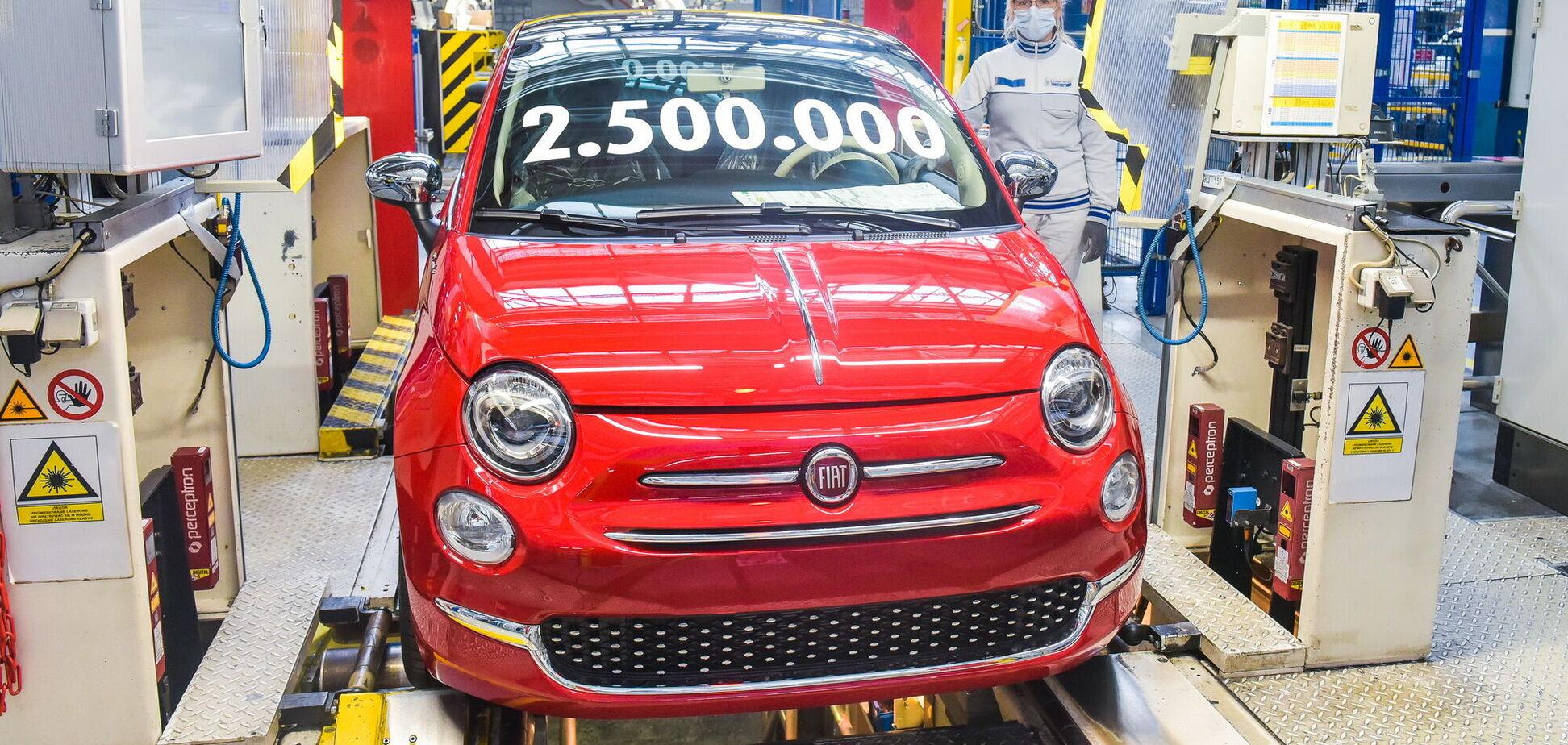 FIAT отпраздновал выпуск 2,5-миллионного FIAT 500