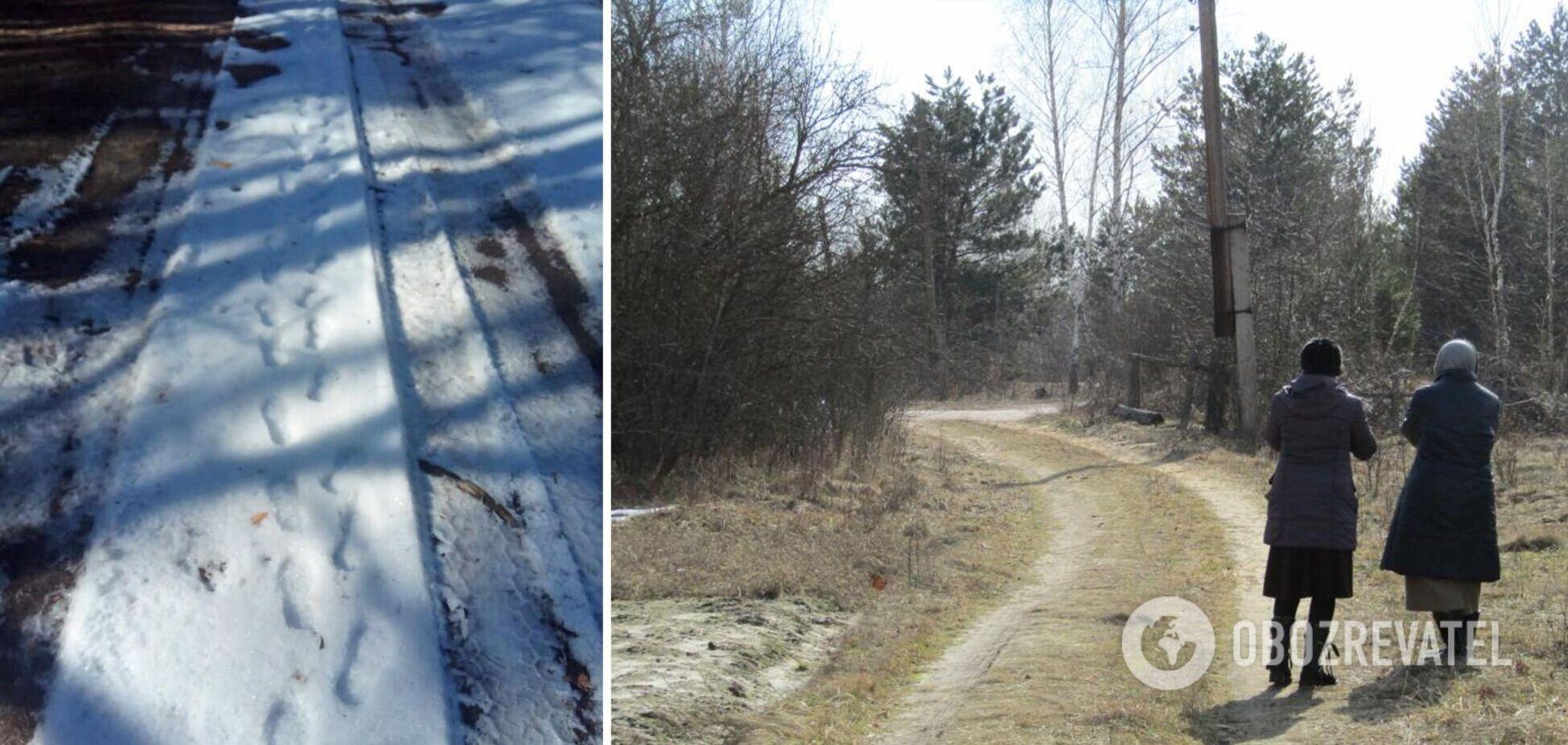 На Житомирщине 2-летний ребенок сам ушел в лес: его нашли по следам на снегу. Фото и видео