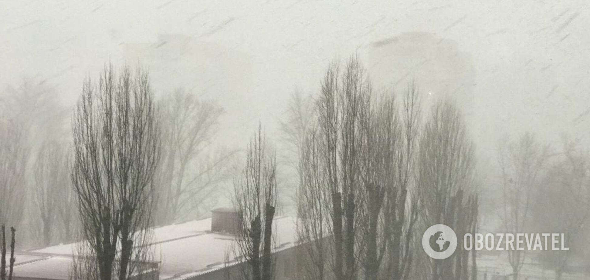 До Києва увірветься мокрий сніг і нічний мороз: з'явився новий прогноз погоди