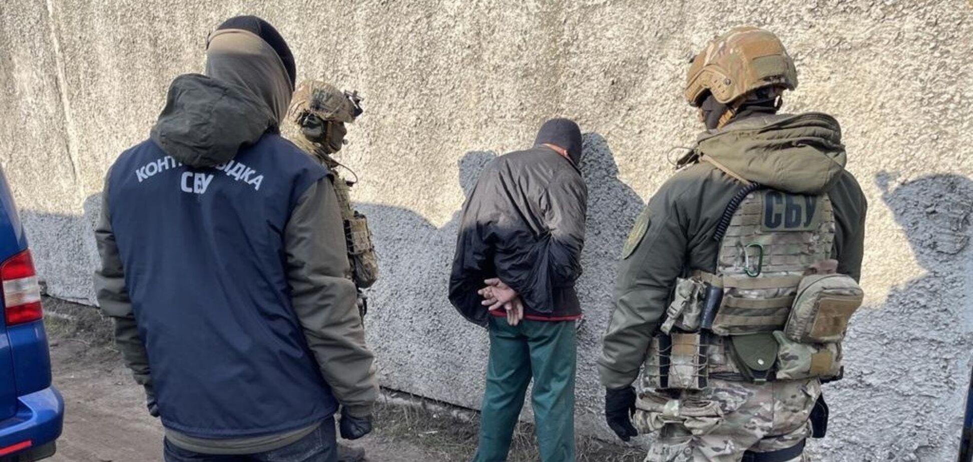 Задержание террориста 'ЛНР'
