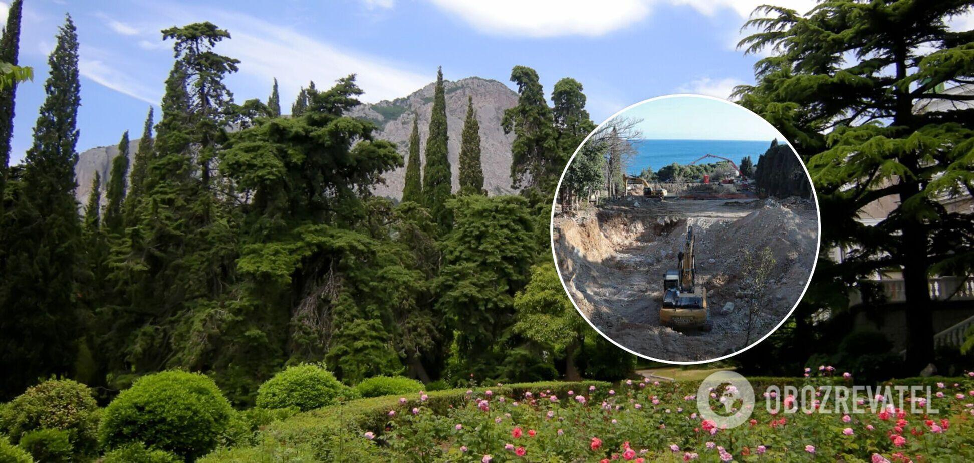 У Криму окупанти руйнують відомий парк: прокуратура почала розслідування
