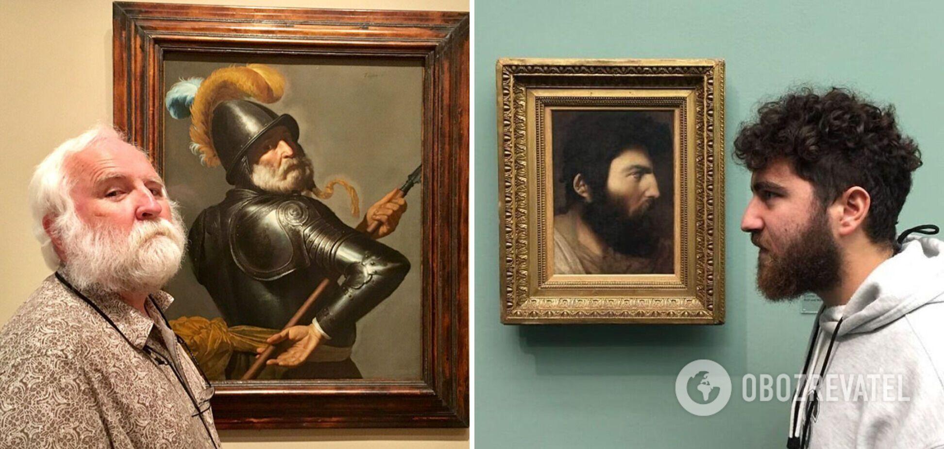 Посетители музея нашли на картинах себя