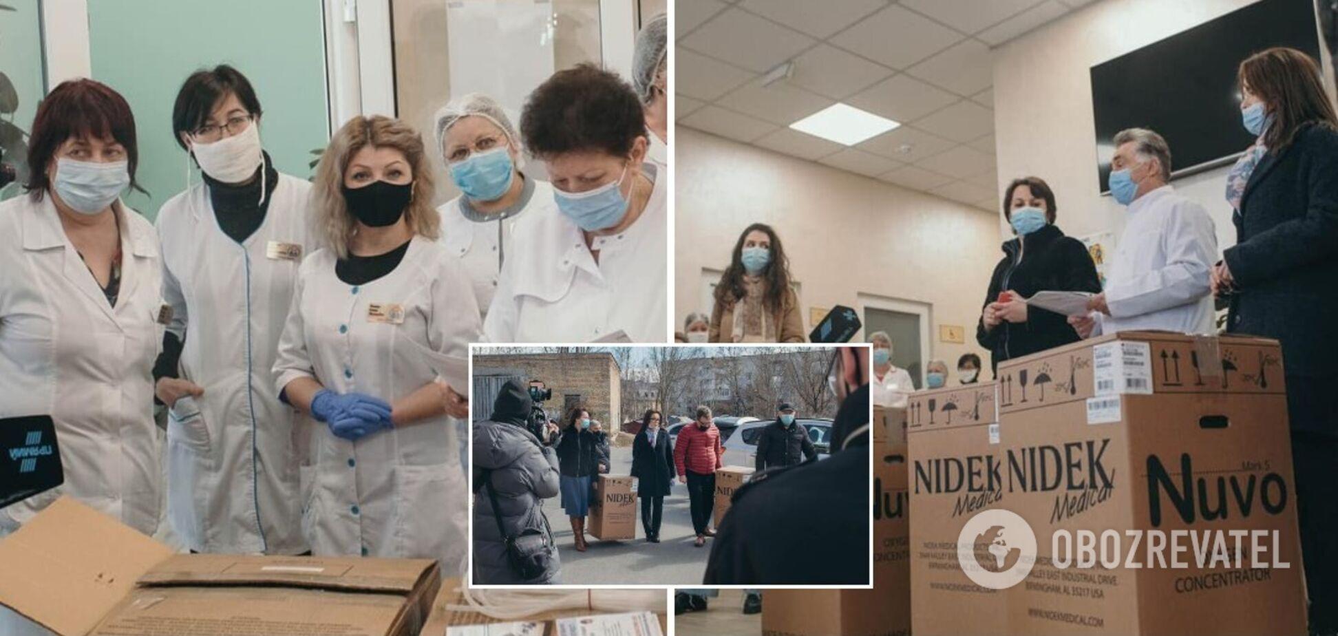 Медзаклад на Київщині отримав кисневі концентратори від Фонду Порошенка