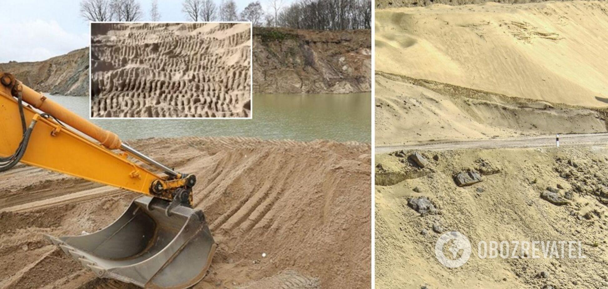 Нелегали на Київщині украли тисячі тонн піску