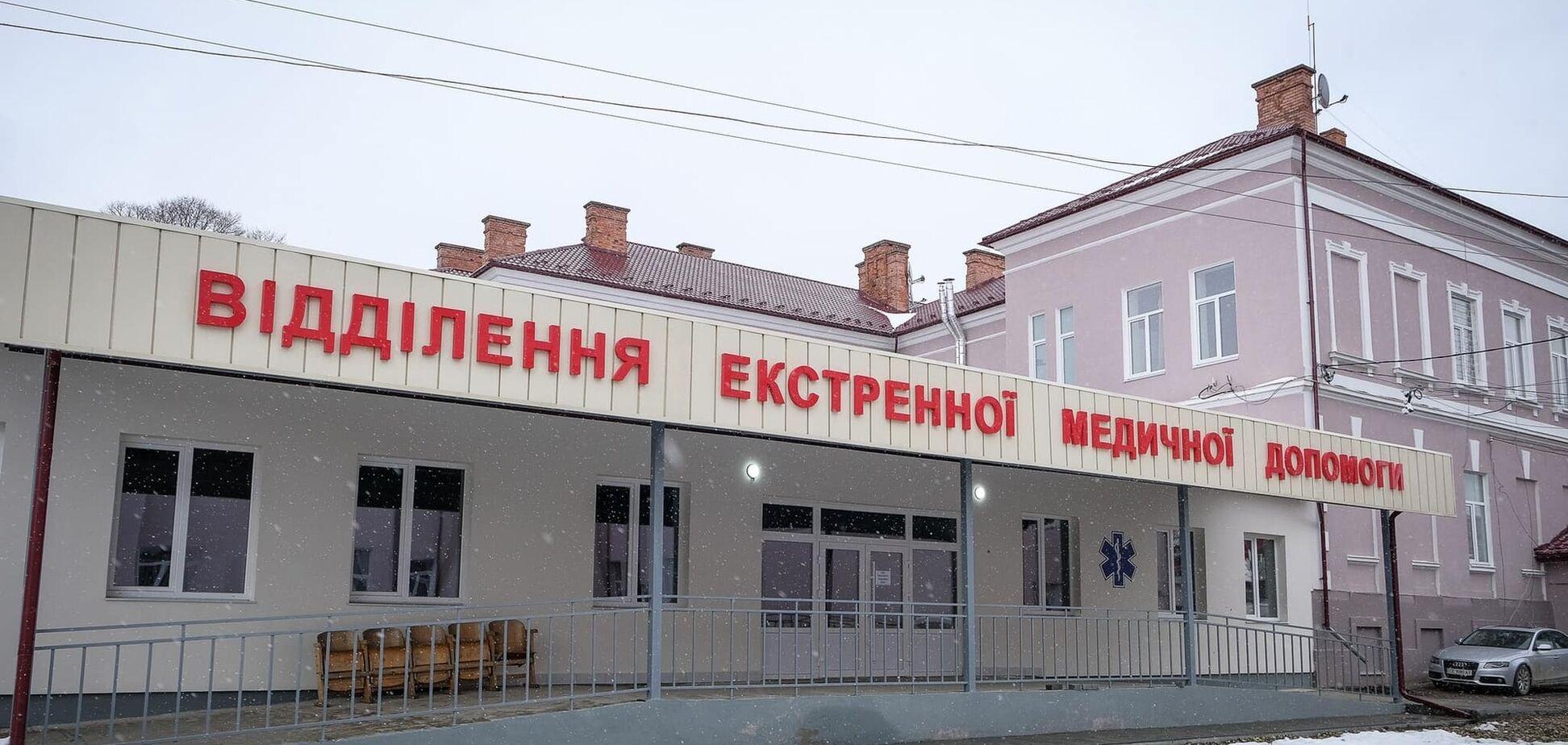 За програмою Зеленського на Буковині за три місяці з нуля побудували приймальне відділення у лікарні