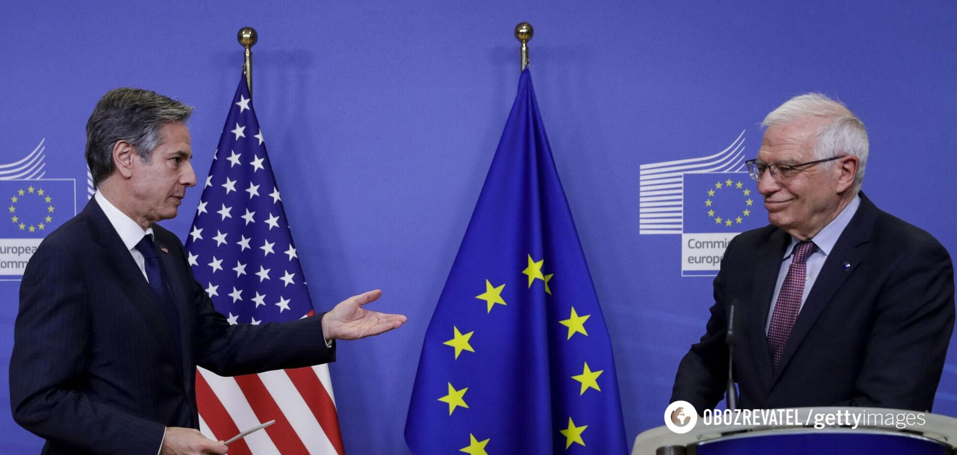 ЄС і США домовилися протистояти РФ, підтримуючи Україну