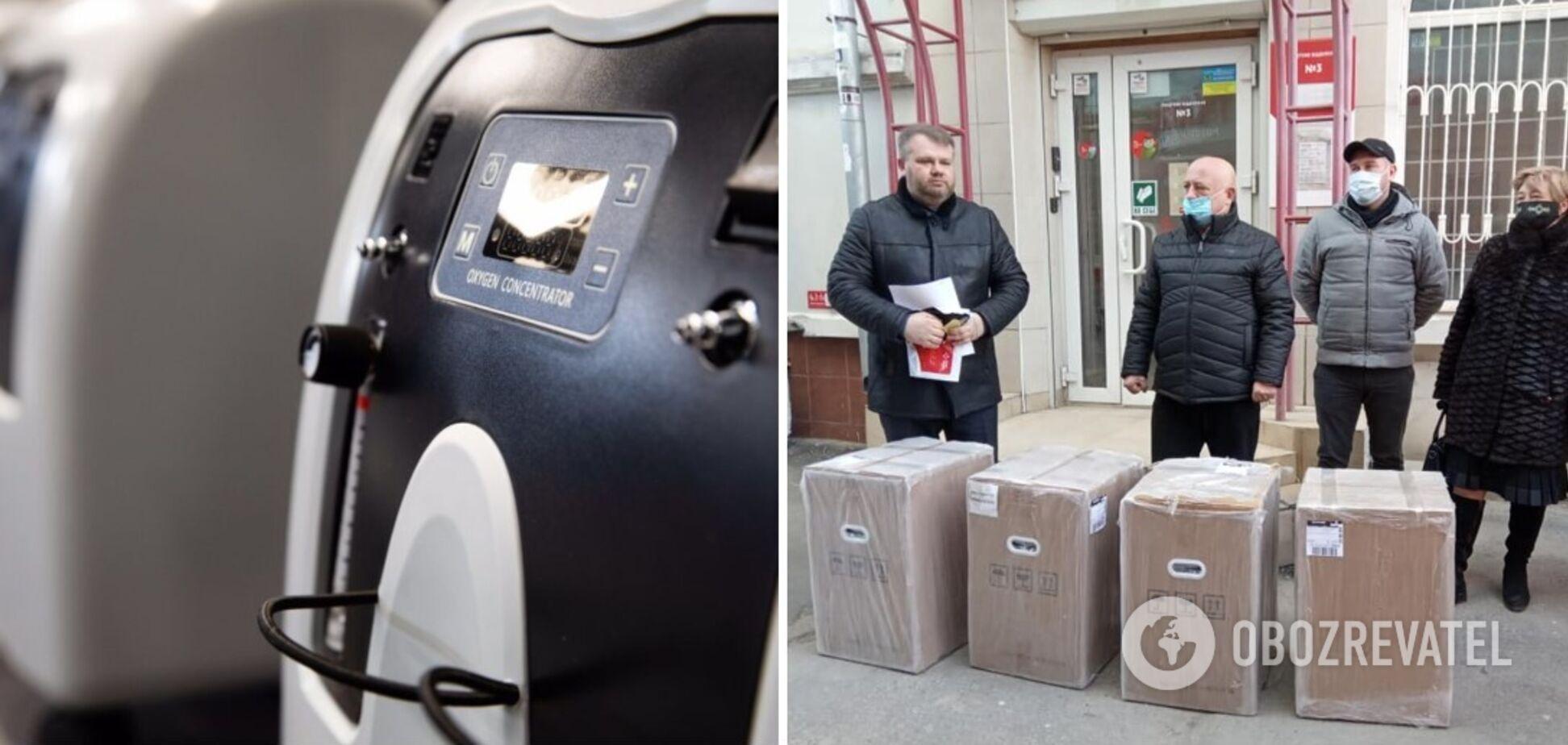 Гайсинская и Крыжопольская районные больницы в Винницкой области получили кислородные концентраторы