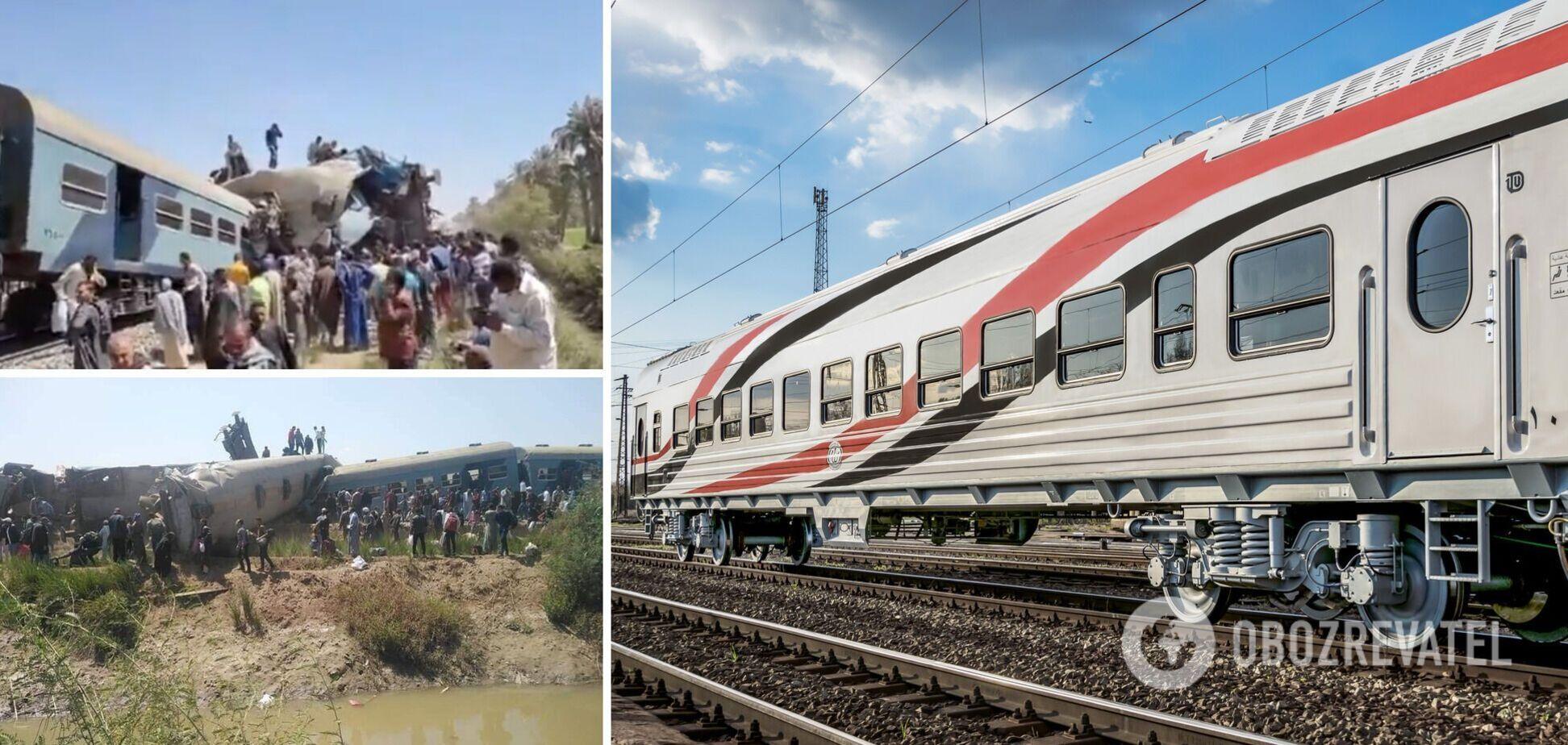У Єгипті зіштовхнулися два поїзди: багато жертв і постраждалих. Фото НП