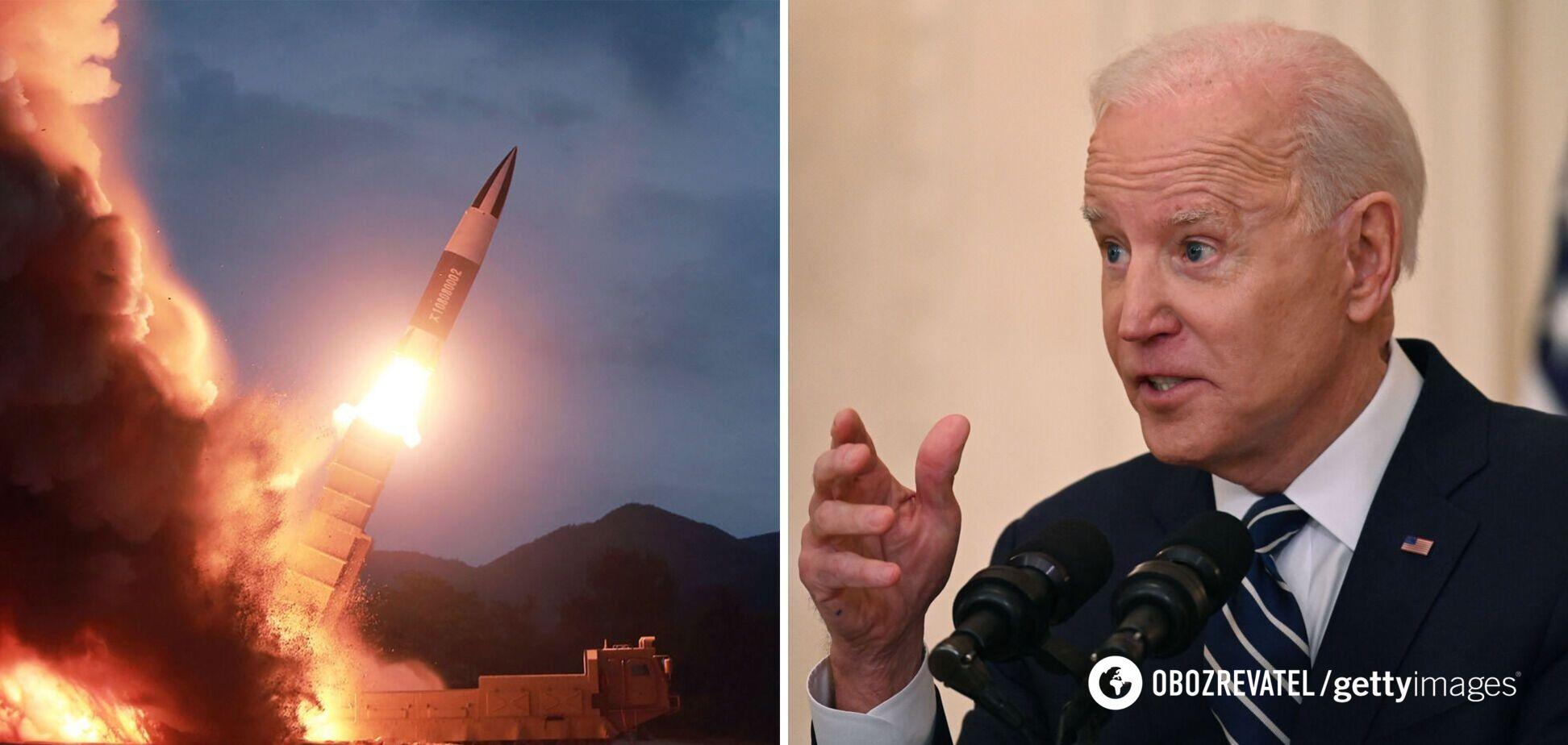 Байден пообіцяв 'відповідь' за випробування КНДР нової тактичної ракети