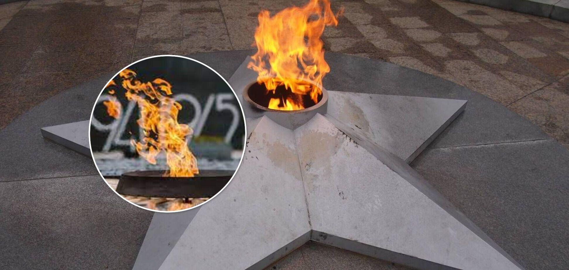 На Киевщине семья жарила маршмеллоу на Вечном огне. Видео