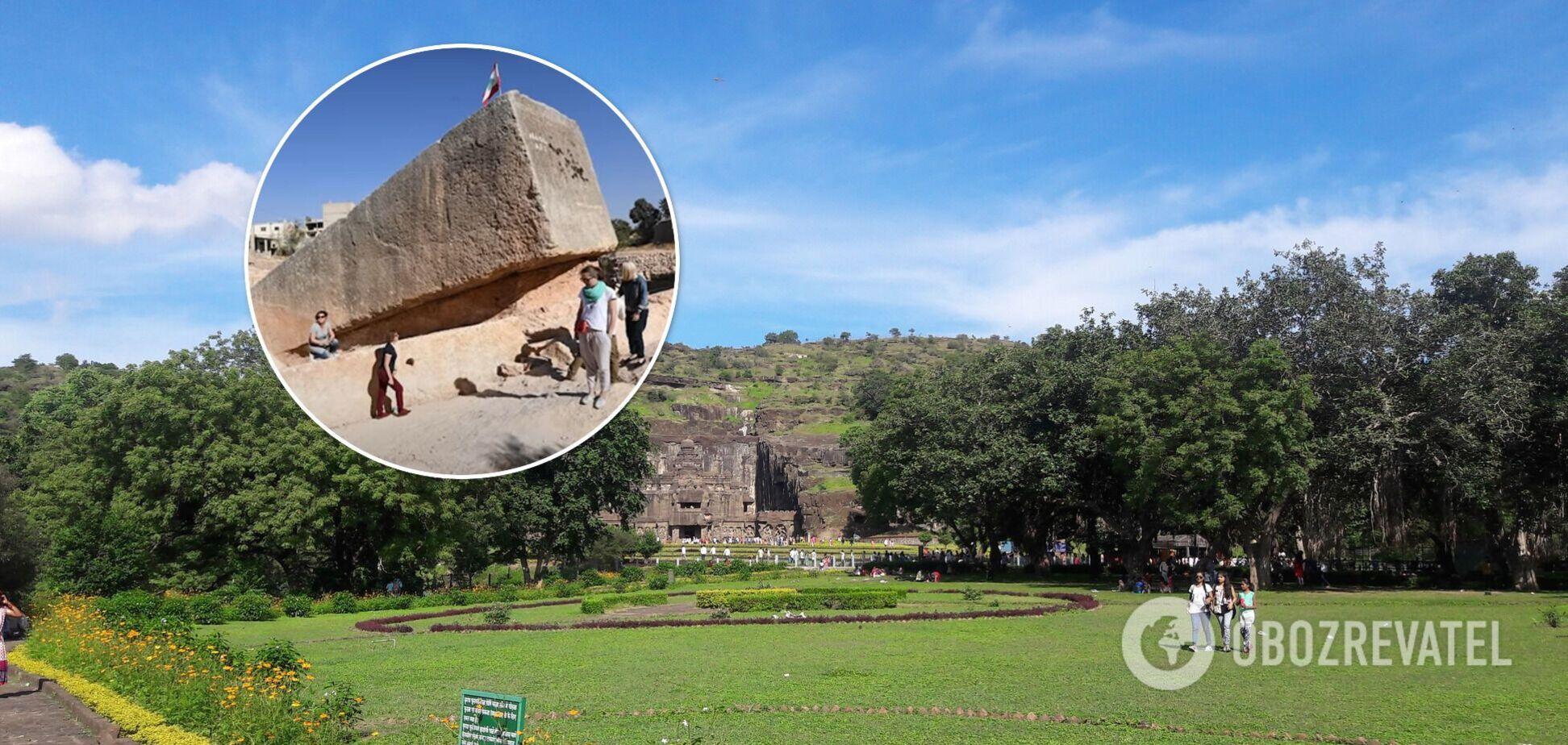 Кайласанатха – крупнейший из скальных индуистских храмов, деревня Эллор, штат Махараштра, Индия