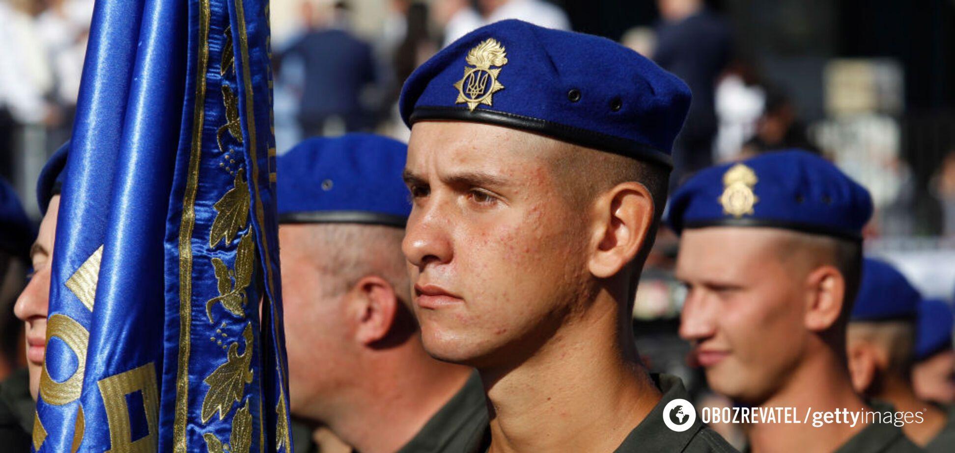 Воины Национальной гвардии Украины