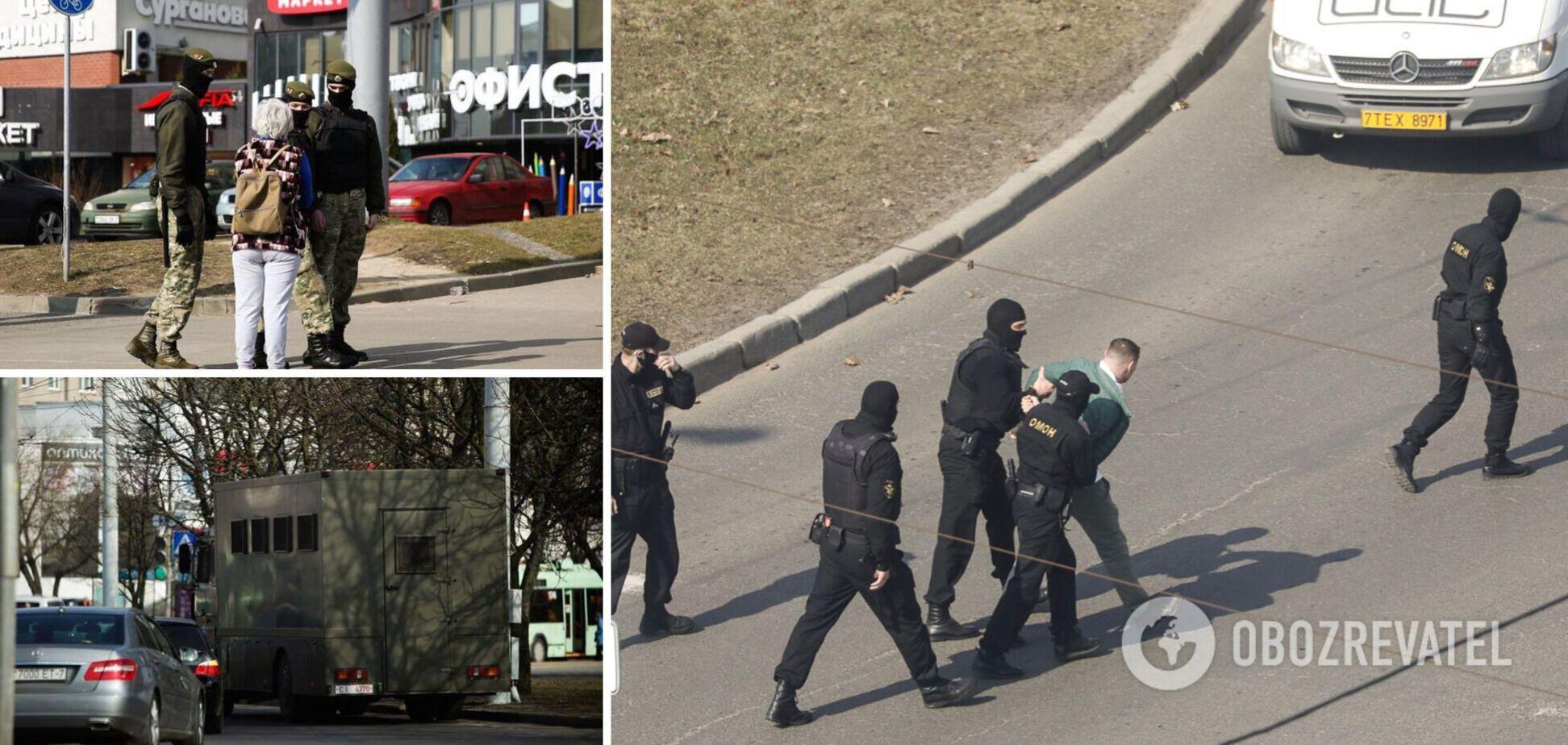 Белорусы попытались выйти на первый массовый протест 2021 года: задержаны 100 человек. Фото и видео
