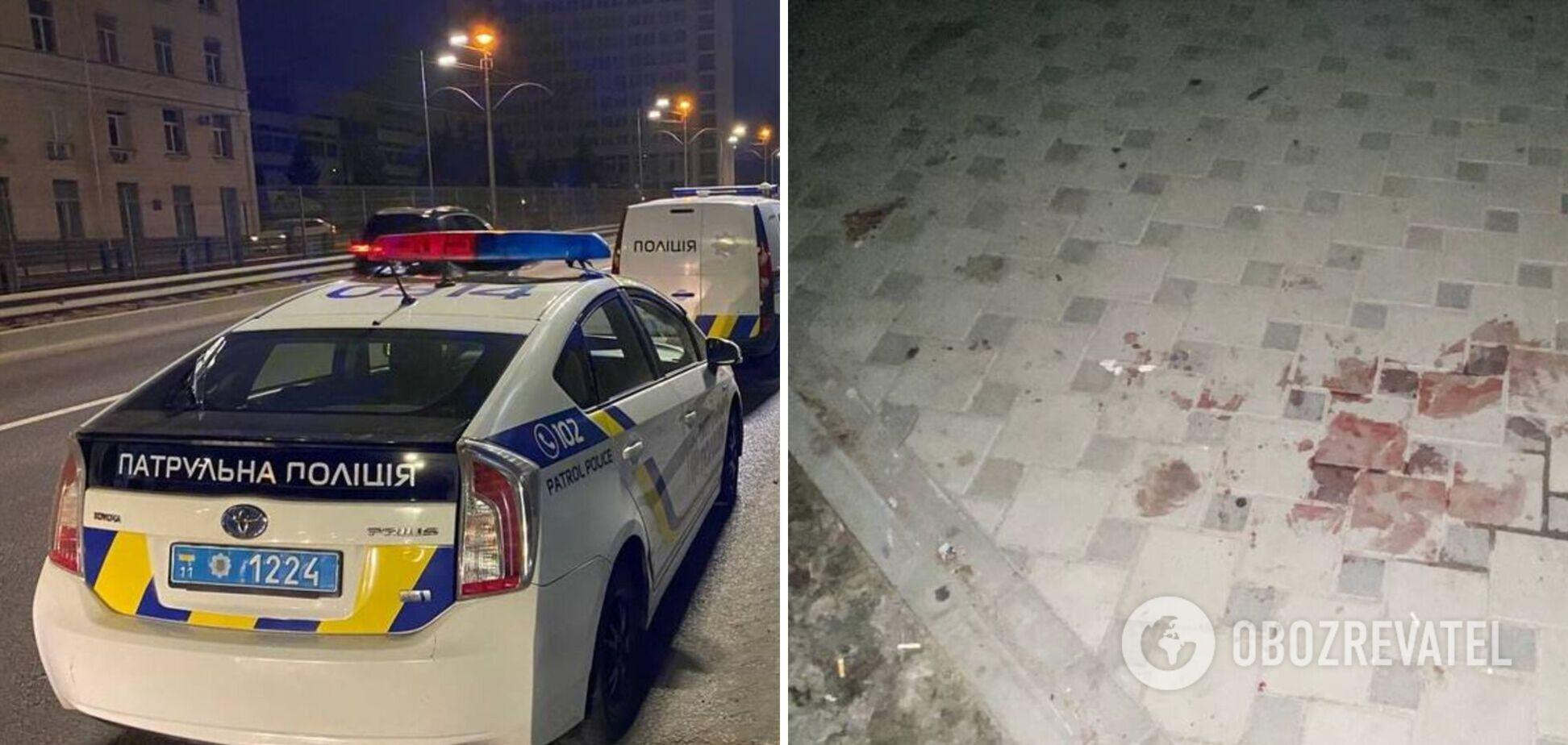 В Киеве порезали мужчину из-за очереди в киоск. Фото