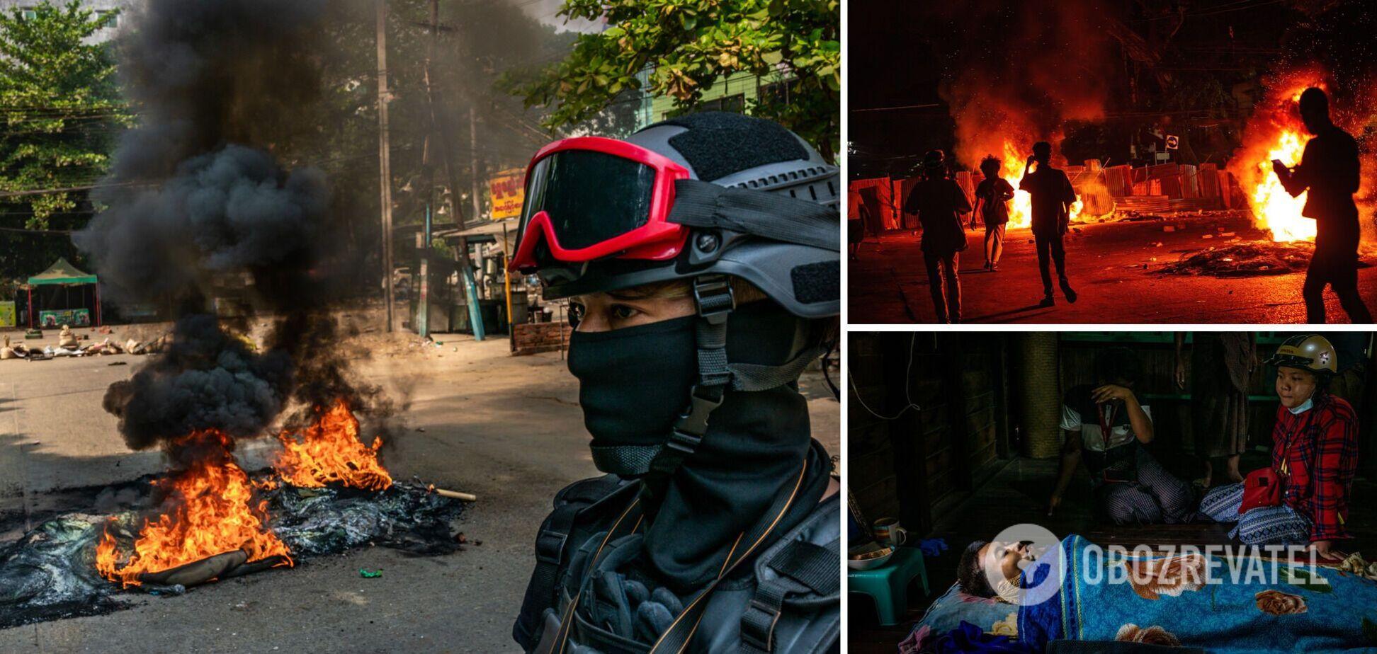 СМИ: военные в Мьянме за день убили более 100 демонстрантов, в том числе и детей. Фото 18+
