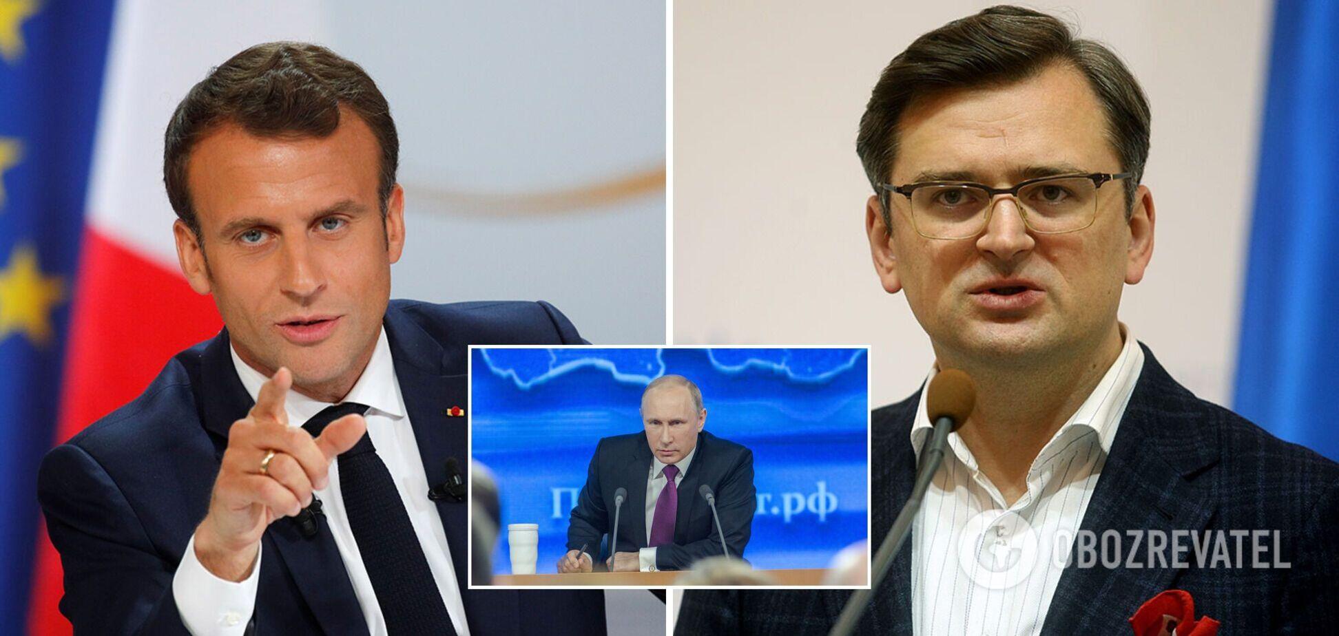 Кулеба призвал Макрона уговорить Путина на переговоры по Донбассу