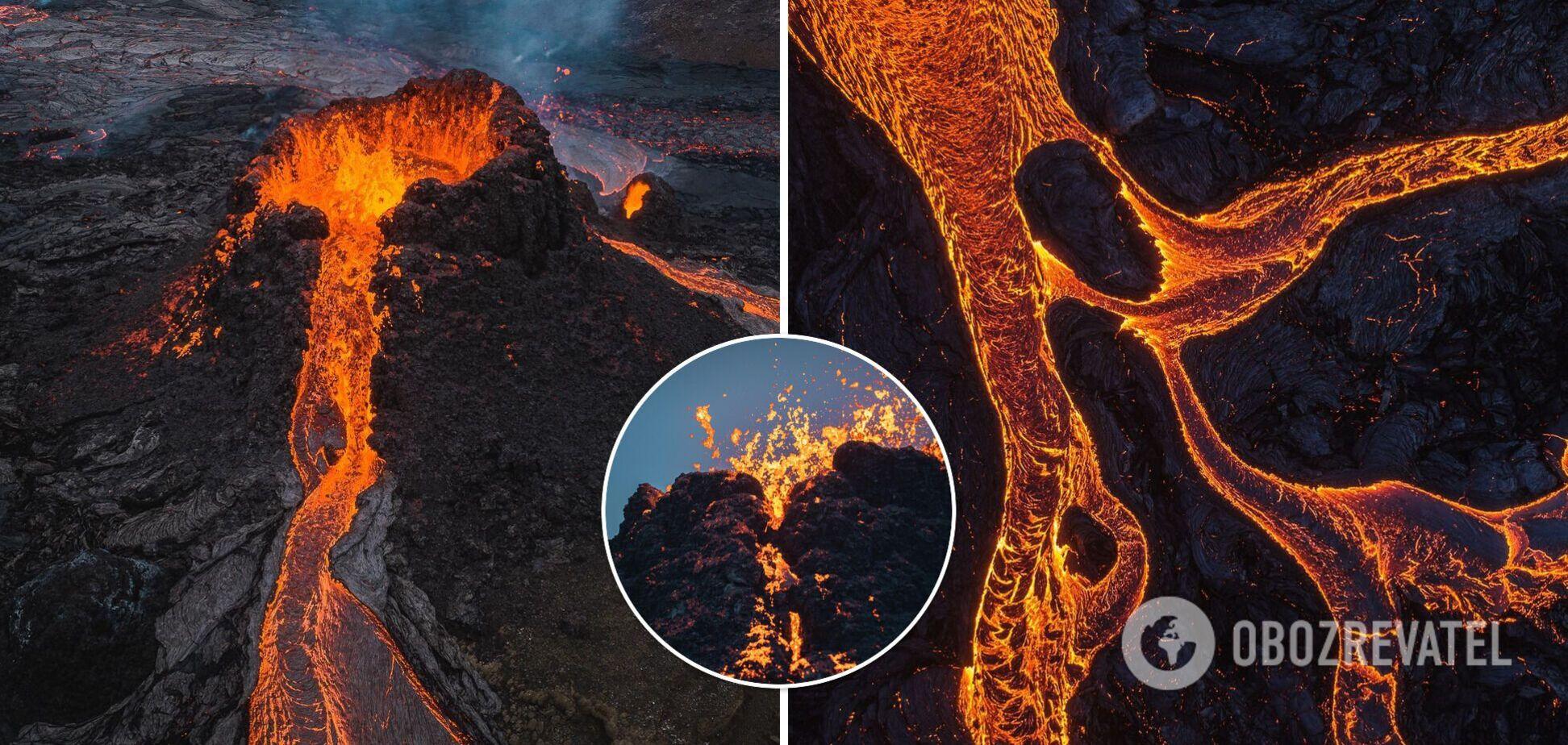 Извержение вулкана Фаґрадальсфьядль