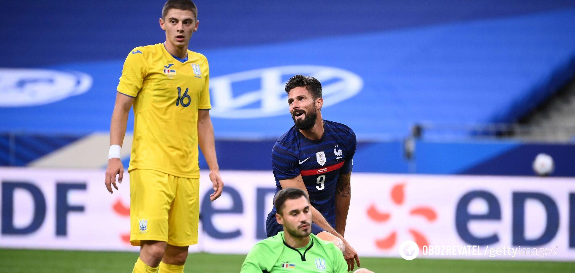 Бущан і Миколенко в матчі з Францією