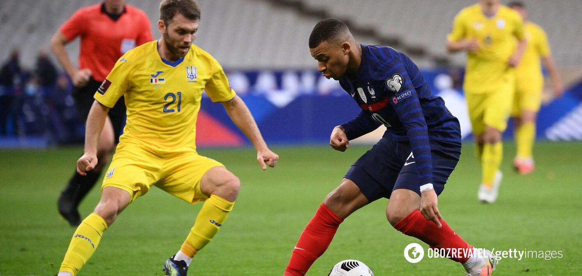 Александр Караваев в матче против Франции