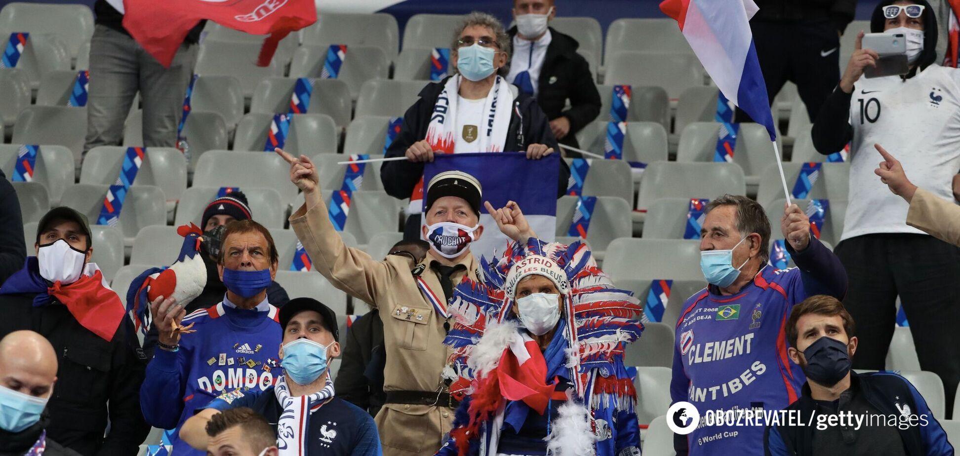 Фанаты сборной Франции