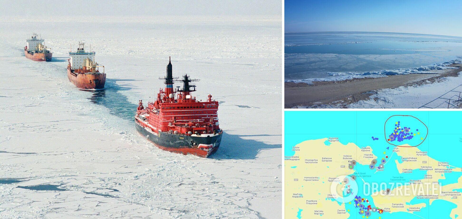 Азовское море обледенело
