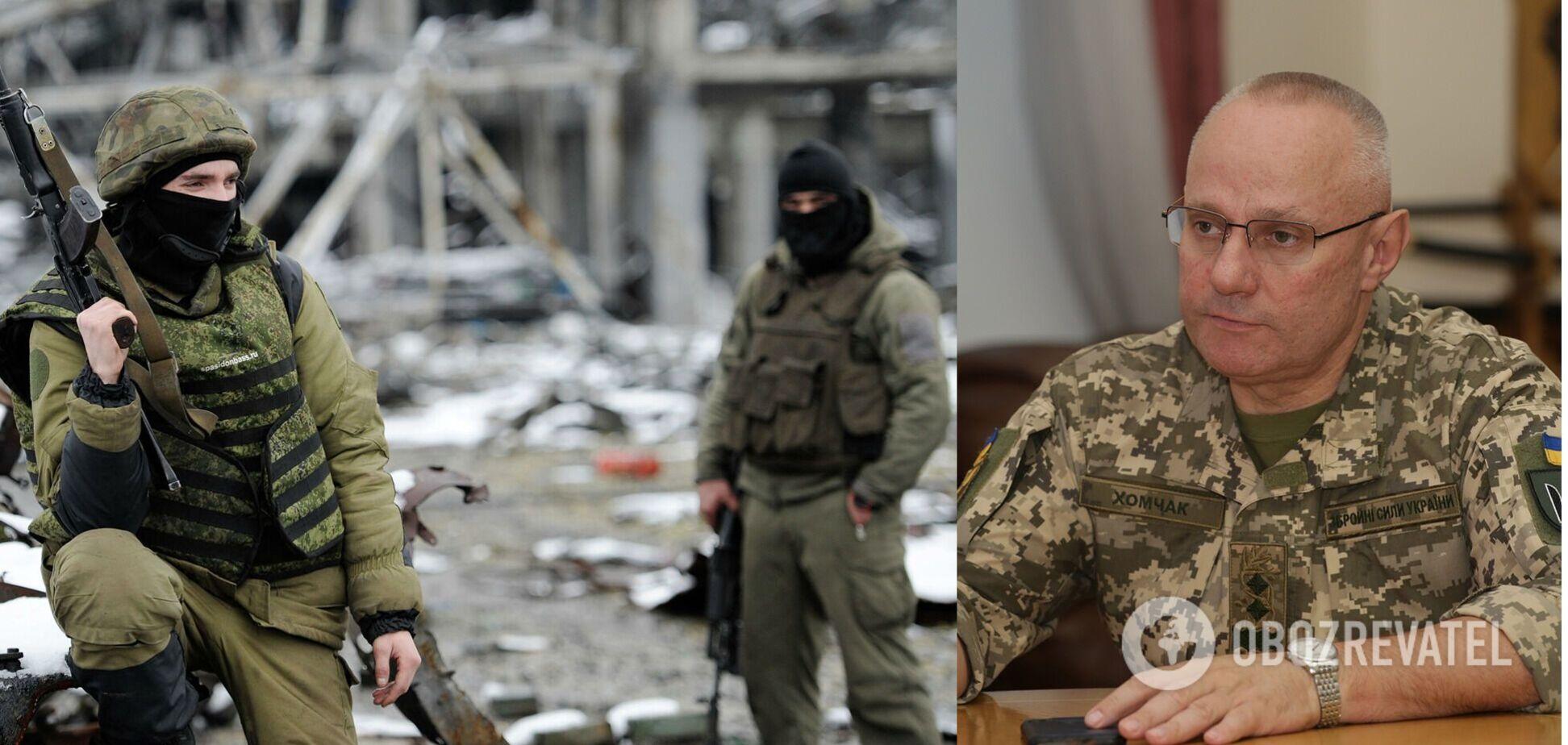 Хомчак рассказал, сколько кадровых военных РФ есть на Донбассе