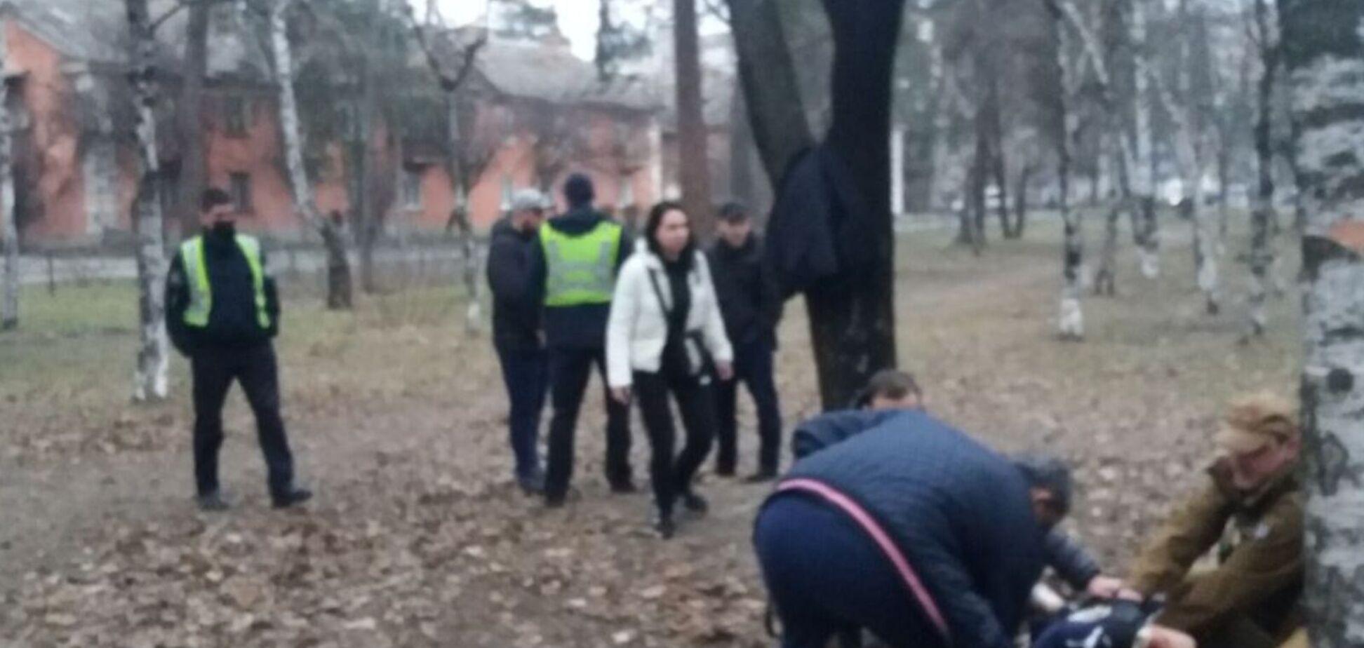 В Киеве отдых в парке закончился поножовщиной. Фото
