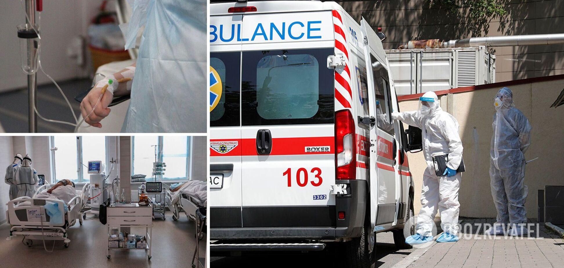 Больницы Киева практически полностью забиты тяжелыми пациентами с коронавирусом
