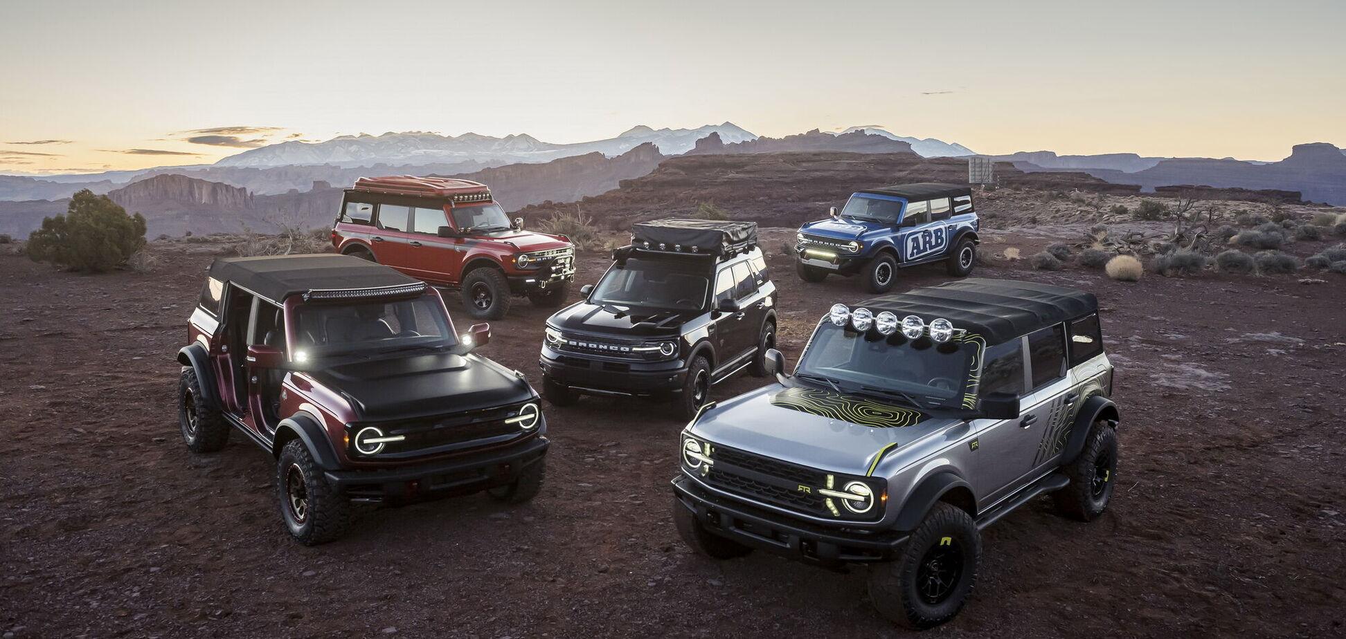Ford Bronco отримає широкий асортимент аксесуарів провідних брендів