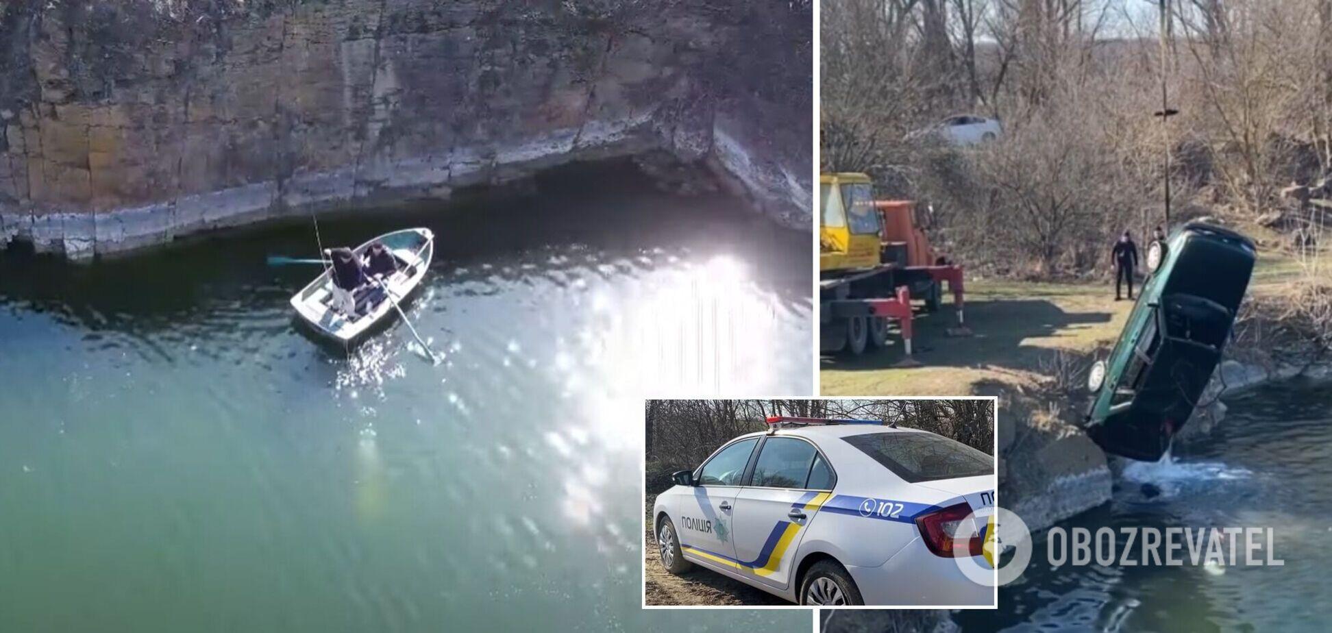 На Черкасщине в затопленной машине нашли тела отца и сына