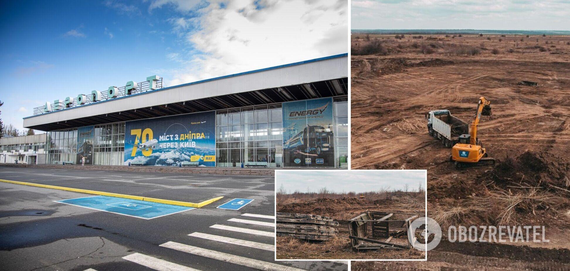 В Днепре приостановилось строительство аэропорта: появились фото работ на 'взлетке'