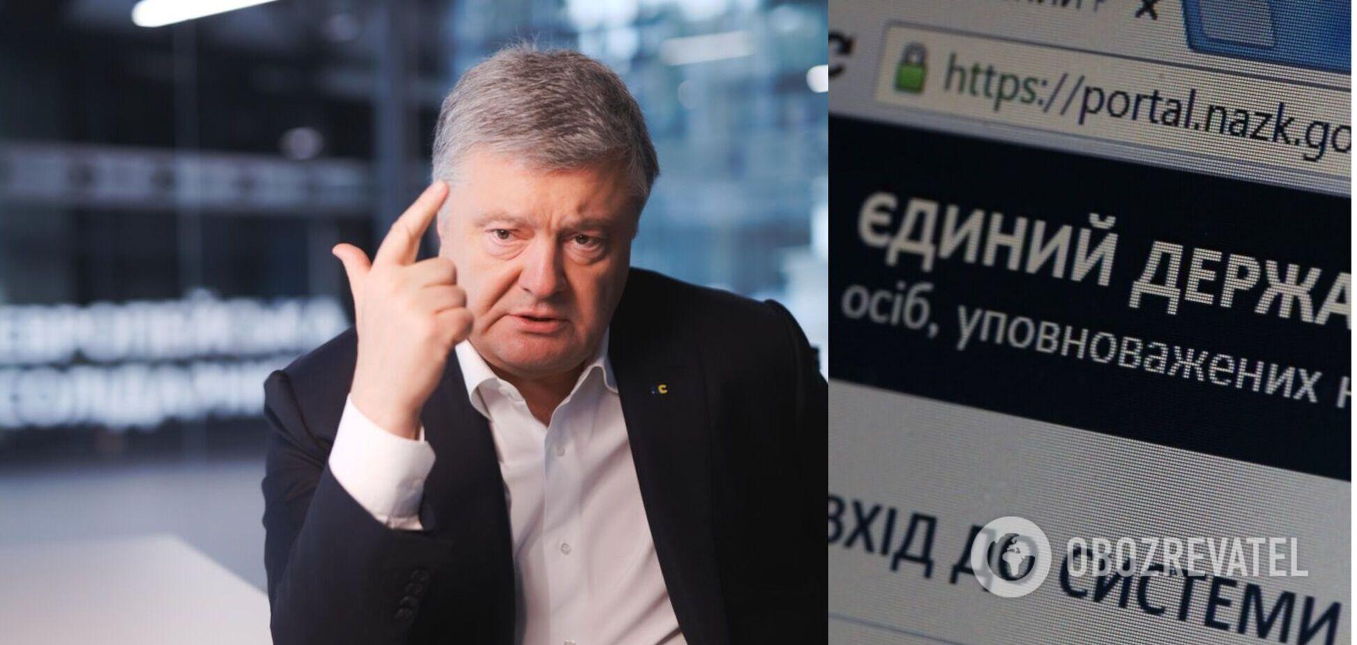 Порошенко обнародовал декларацию за 2020 год: на благотворительность отдал 150 млн