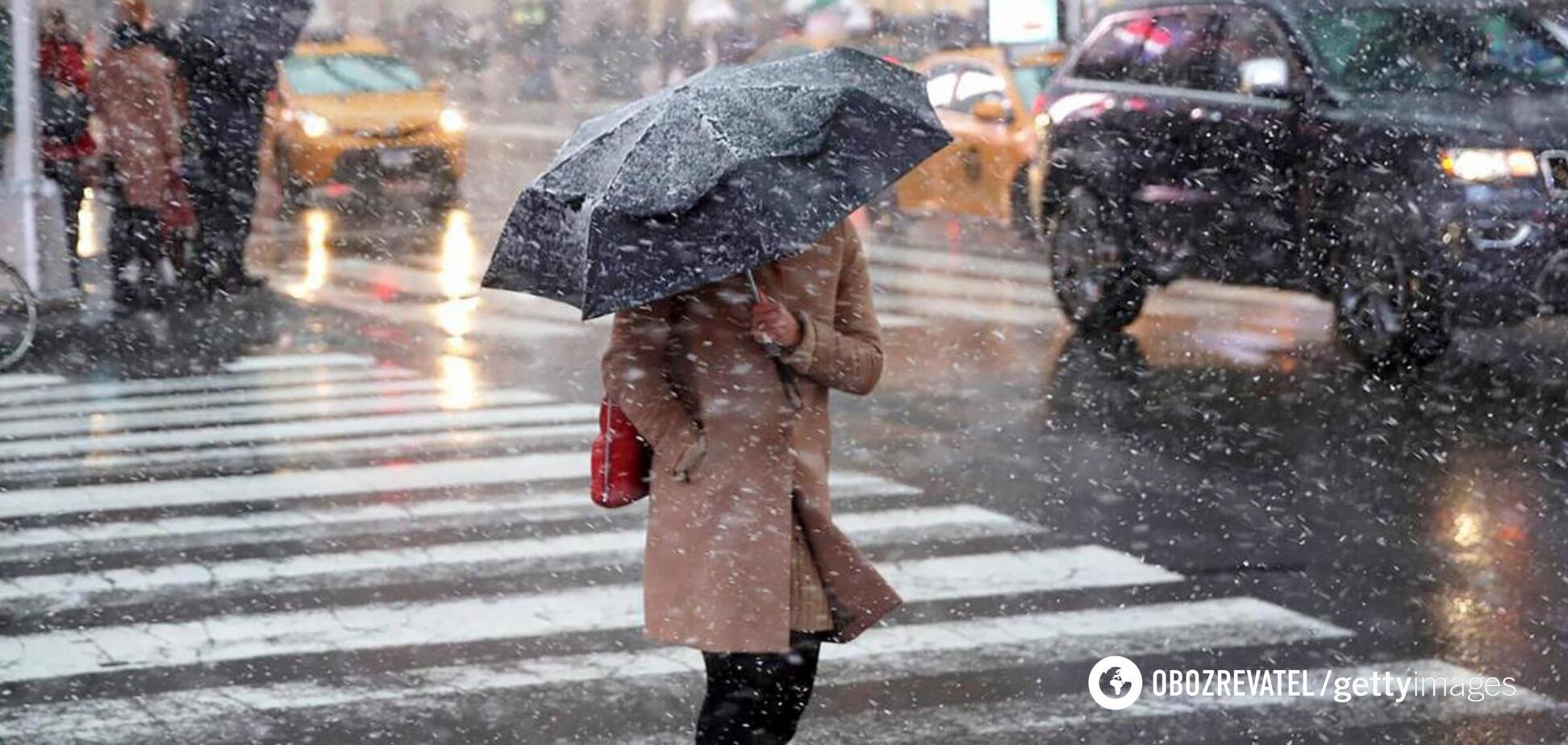 Київ заллють дощі, а потім накриє сніг