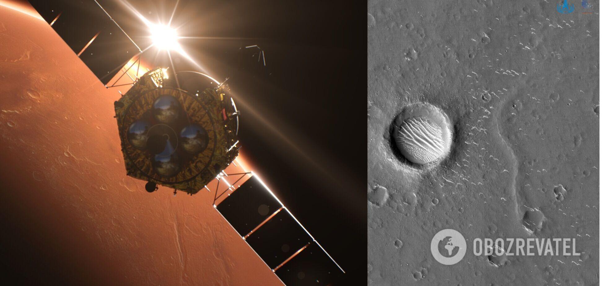 Китайский зонд прислал новые фото Марса