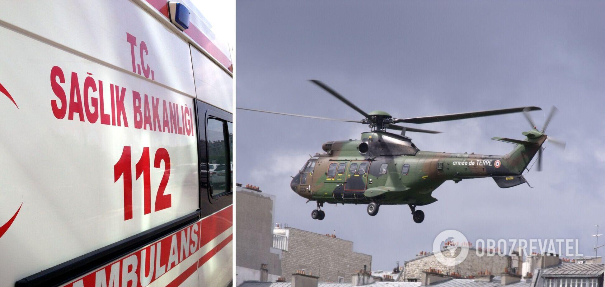 У Туреччині впав вертоліт із військовими: серед 11 загиблих – відомий генерал. Фото та відео