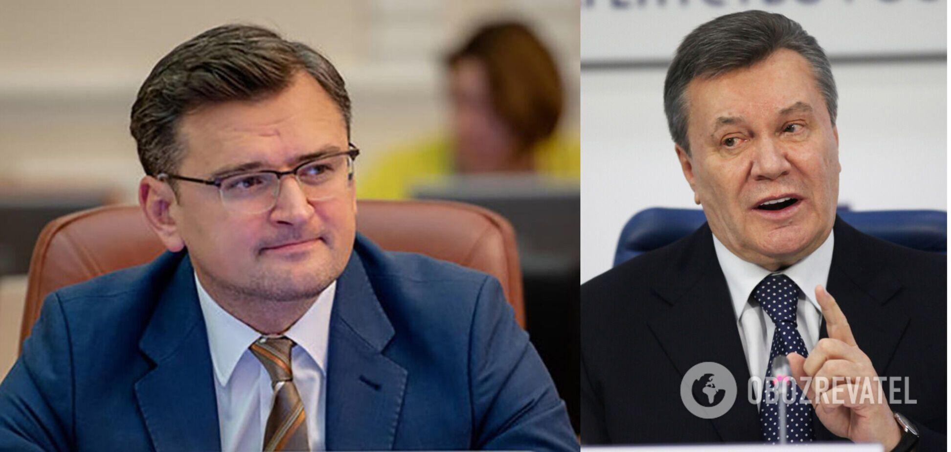 Кулеба пояснив зняття санкцій із чиновників Януковича