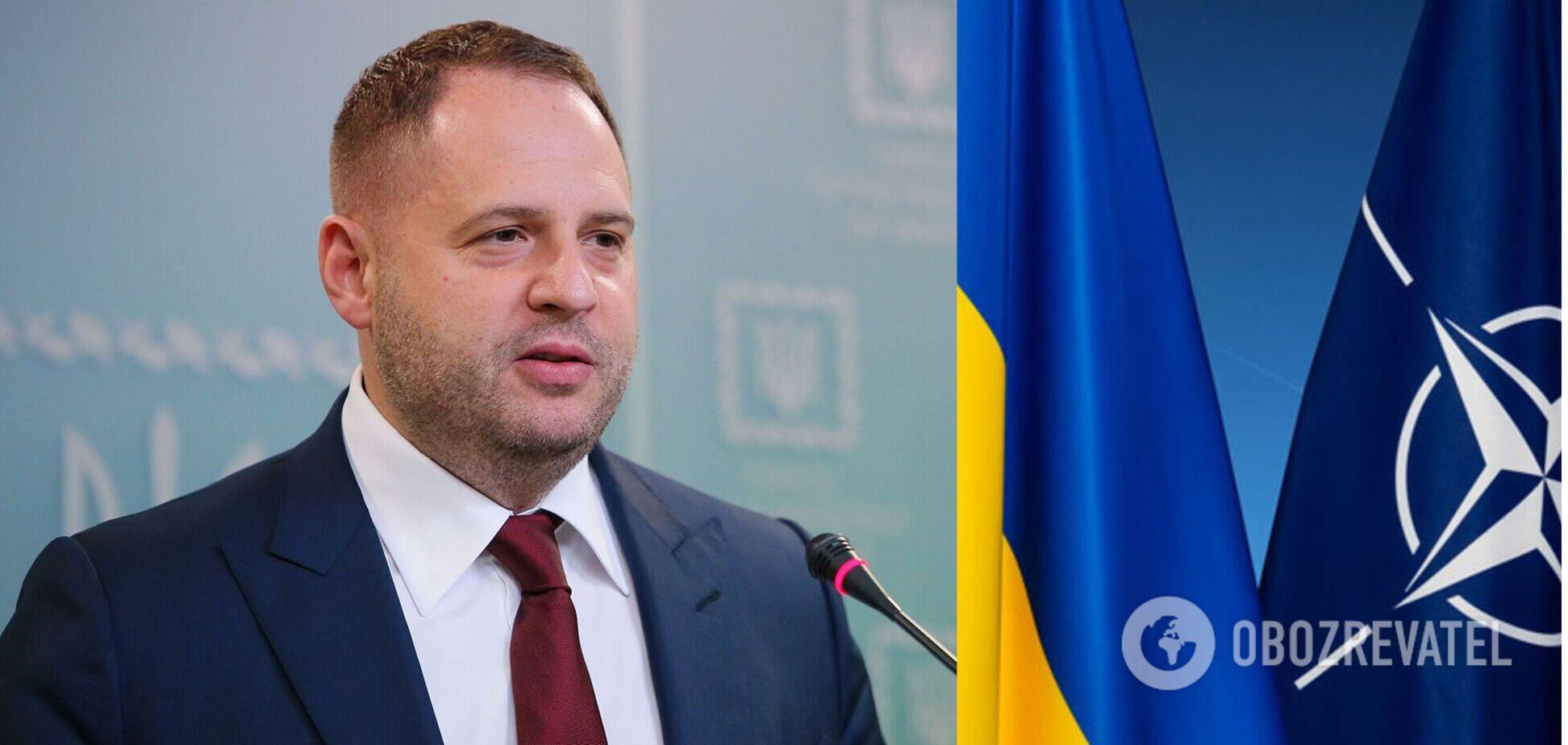 Єрмак заявив, що Україна повинна щодня вимагати вступу до НАТО