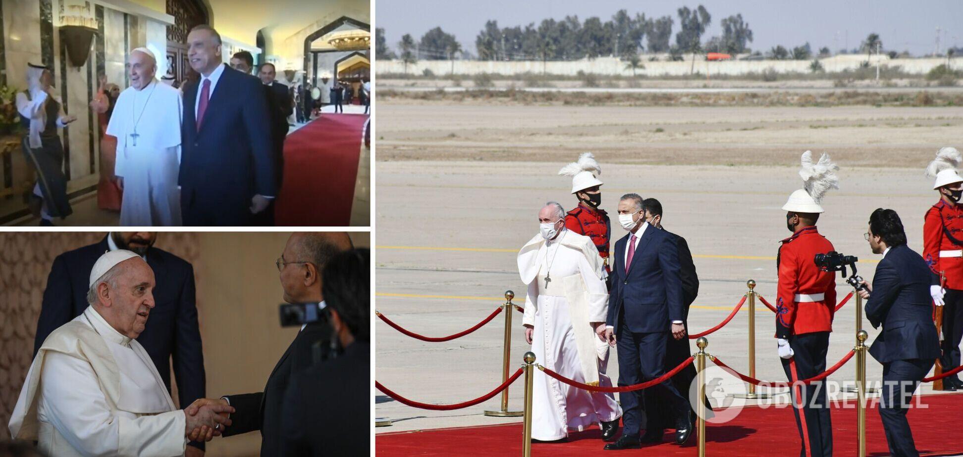 Папа Франциск уперше прибув в Ірак: його зустріли танцем. Фото і відео історичного візиту