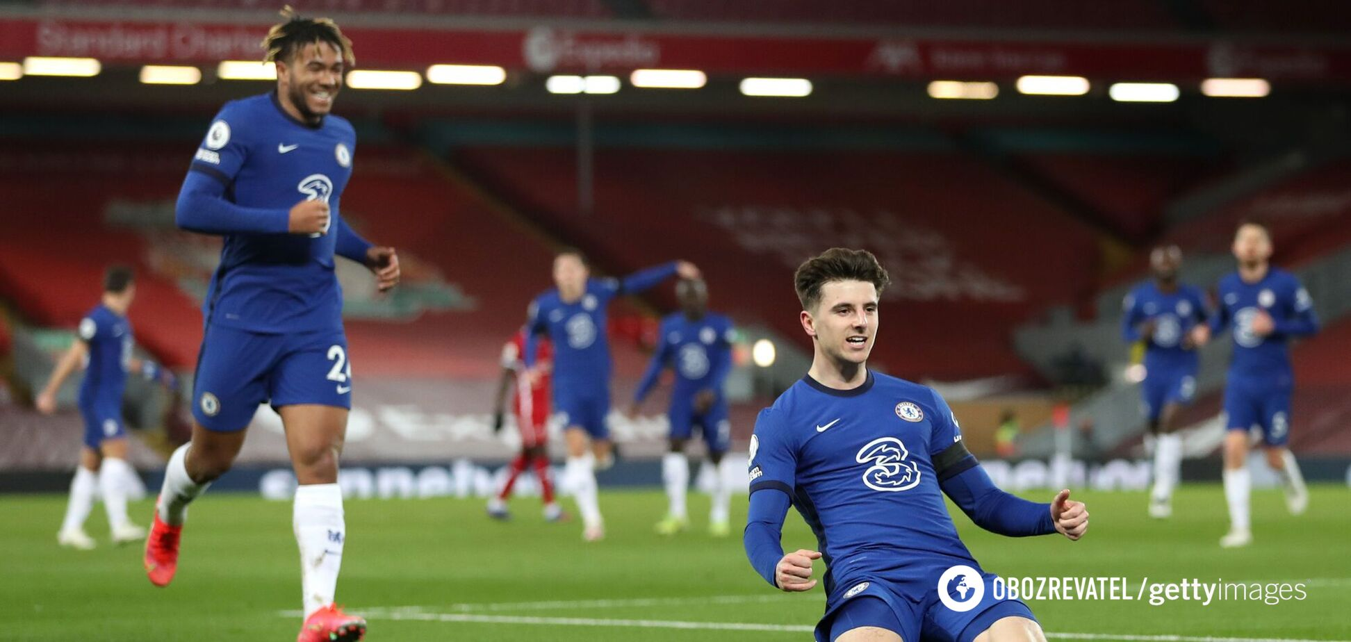 Мейсон Маунт (праворуч) забив єдиний гол 'Ліверпулю'