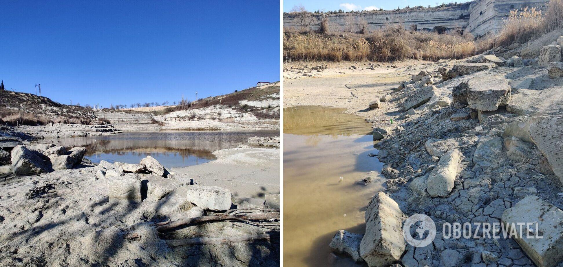 У Криму менш ніж за місяць спустошили водоймище. Фото