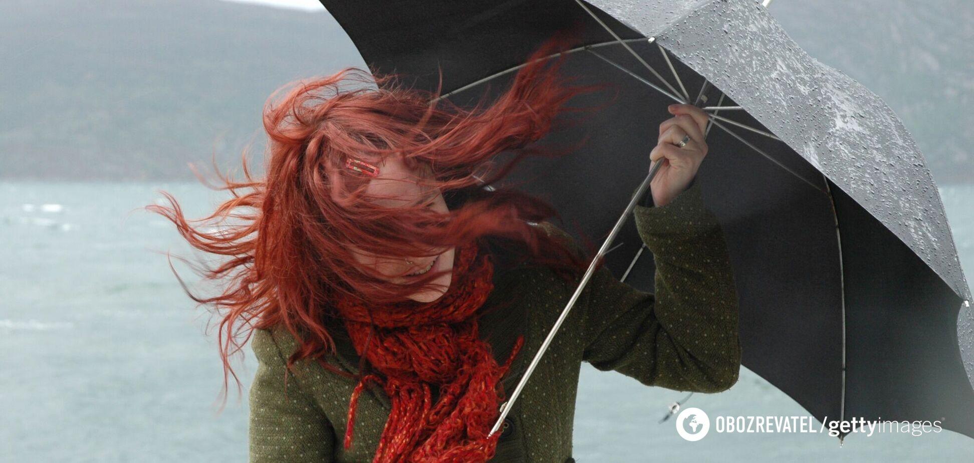 В воскресенье в Украине ожидается сильный ветер