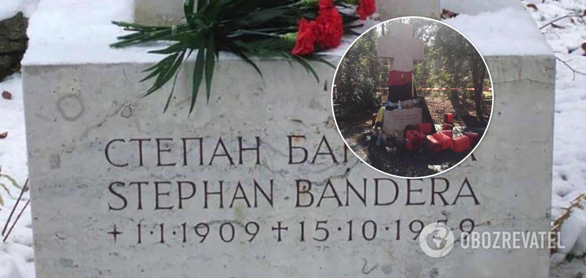 У Німеччині могилу Бандери облили невідомою речовиною. Фото