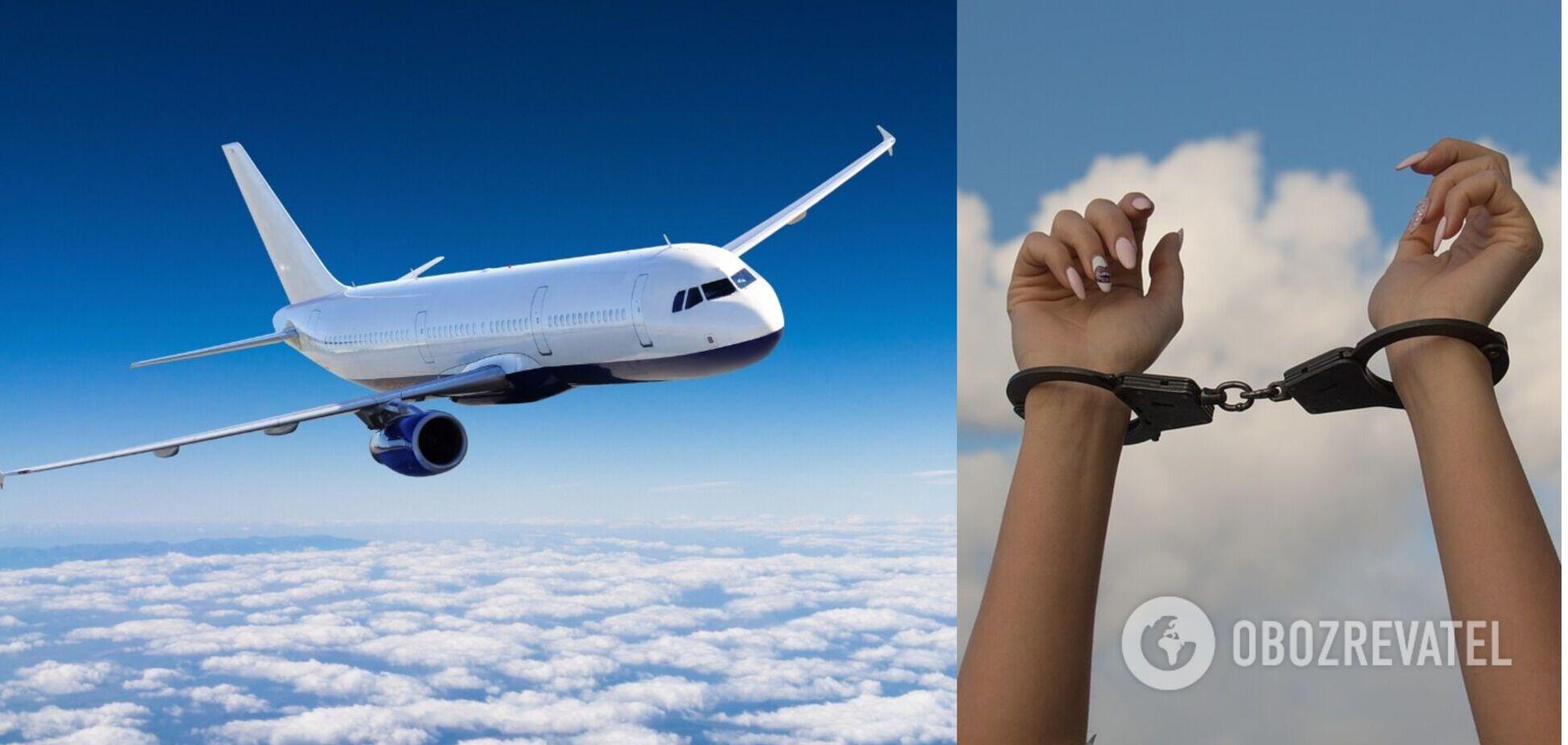 Росіянку зв'язали скотчем на борту літака через неадекватну поведінку. Відео